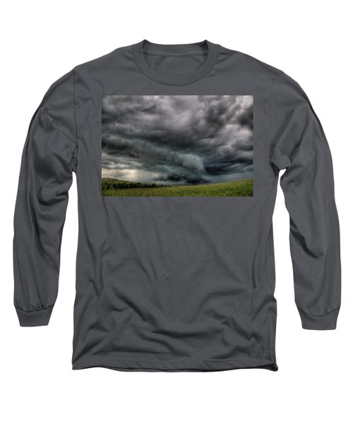North Dakota Thunderstorm Long Sleeve T-Shirt
