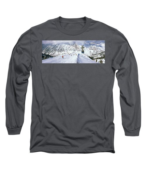 Overhead Cable Car In A Ski Resort Long Sleeve T-Shirt