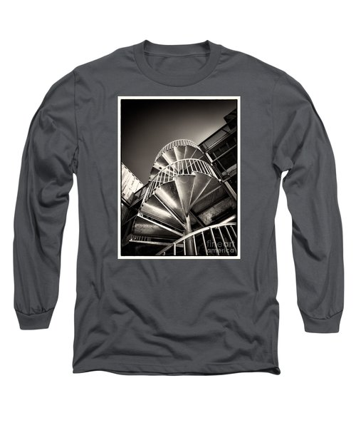 Pop Brixton - Spiral Staircase - Industrial Style Long Sleeve T-Shirt by Lenny Carter