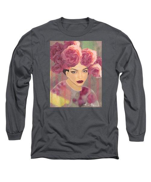 Rose Long Sleeve T-Shirt by Lisa Noneman