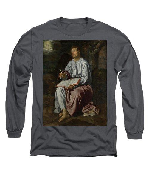 Saint John The Evangelist On The Island Of Patmos Long Sleeve T-Shirt