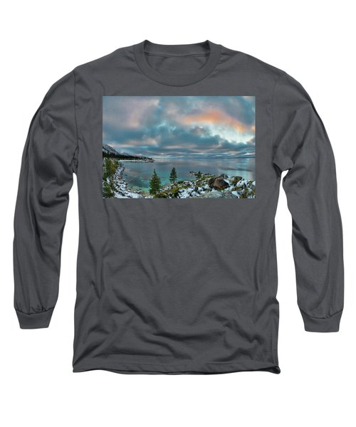 Sand Harbor Sunset Long Sleeve T-Shirt