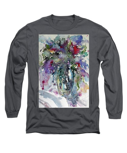 Long Sleeve T-Shirt featuring the painting Still Life by Kovacs Anna Brigitta