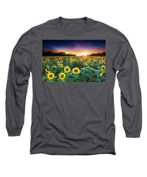 3 Suns Long Sleeve T-Shirt by Edward Kreis