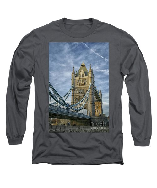 Tower Bridge London Long Sleeve T-Shirt by Patricia Hofmeester