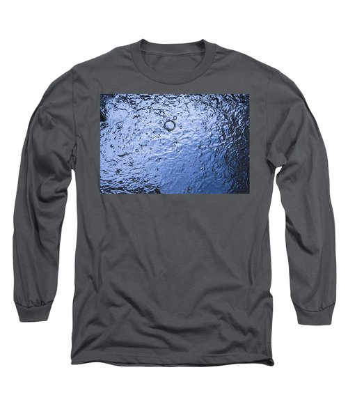 Water Abstraction - Blue Long Sleeve T-Shirt