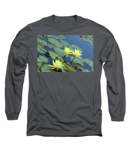 3 Yellow Long Sleeve T-Shirt