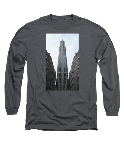 Long Sleeve T-Shirt featuring the photograph 30 Rockefeller Center by Christopher Kirby