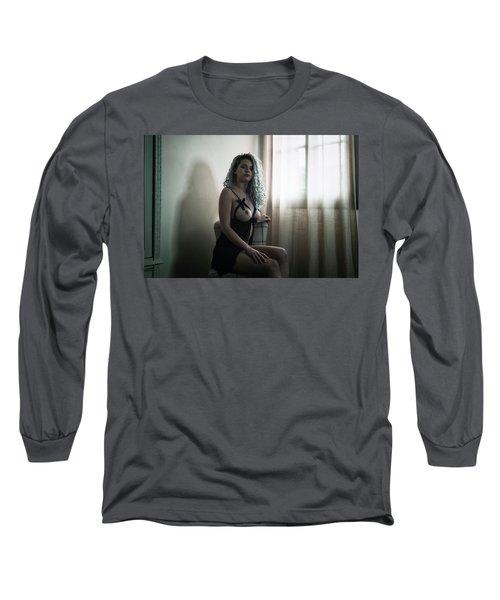 Tu M'as Promis Long Sleeve T-Shirt by Traven Milovich