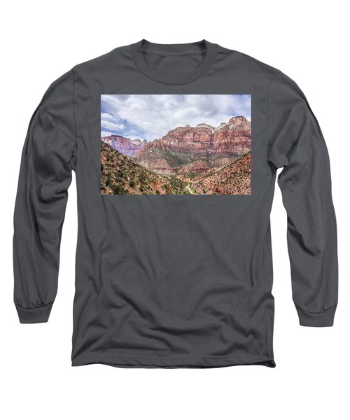 Long Sleeve T-Shirt featuring the photograph Zion Canyon National Park Utah by Alex Grichenko