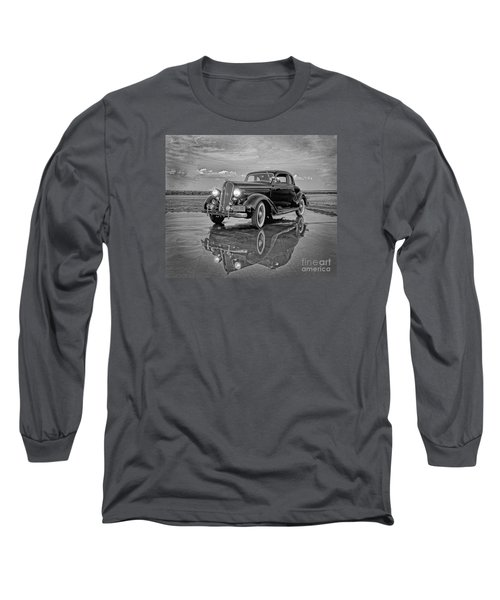 36 Plymouth Reflections Pencil Sketch Long Sleeve T-Shirt