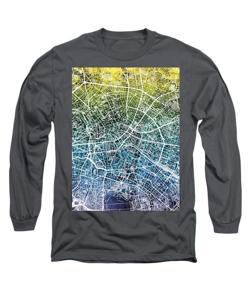 Berlin Germany City Map Long Sleeve T-Shirt