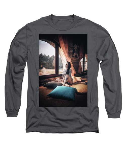 Long Sleeve T-Shirt featuring the photograph C'est Un Beau Roman by Traven Milovich