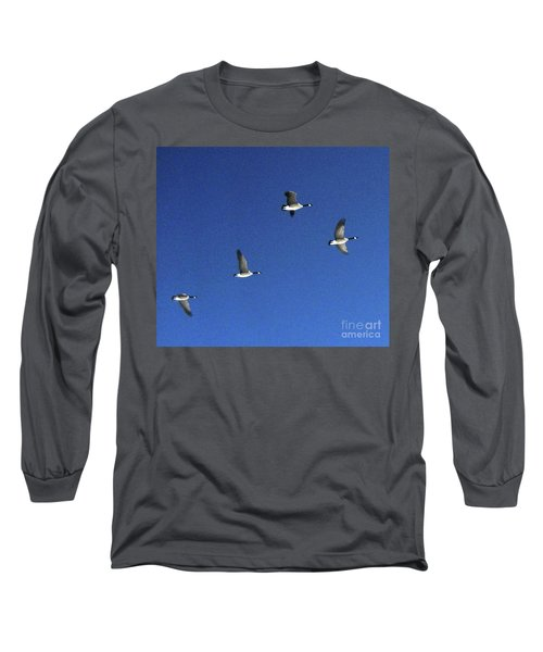 4 Geese In Flight Long Sleeve T-Shirt