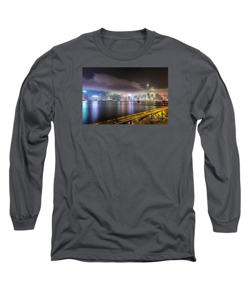Hong Kong Stunning Skyline Long Sleeve T-Shirt