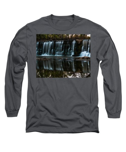 Kansas Waterfall Long Sleeve T-Shirt by Jay Stockhaus
