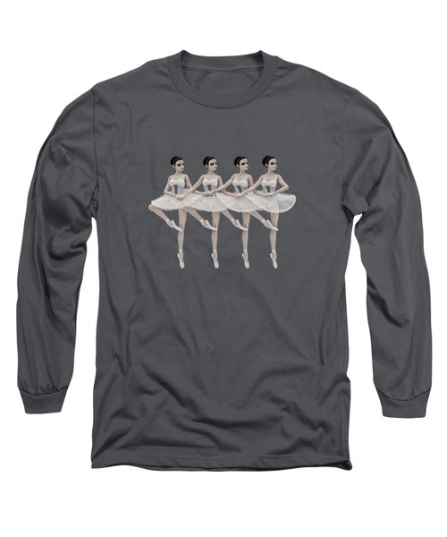 4 Little Swans Long Sleeve T-Shirt by Methune Hively