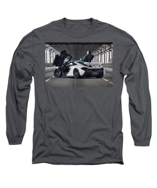 Long Sleeve T-Shirt featuring the photograph #mclaren #p1 #print by ItzKirb Photography