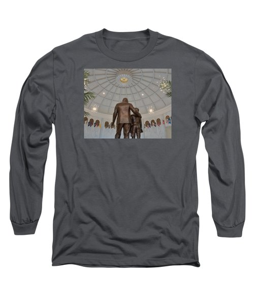Milton Hershey And The Boy Long Sleeve T-Shirt by Mark Dodd
