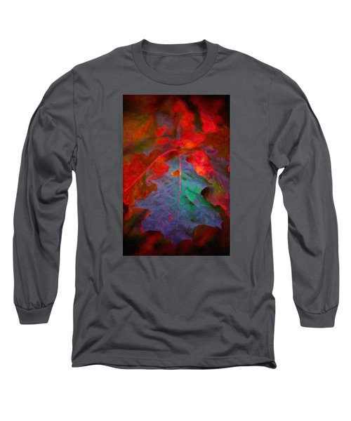 Oak Leaf Long Sleeve T-Shirt by Andre Faubert