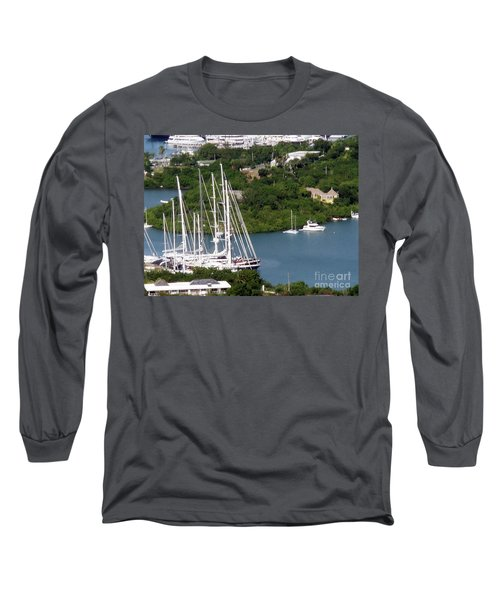 Long Sleeve T-Shirt featuring the photograph Saint  Lucia by Gary Wonning