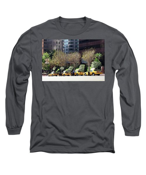 4 Taxis In The City Long Sleeve T-Shirt