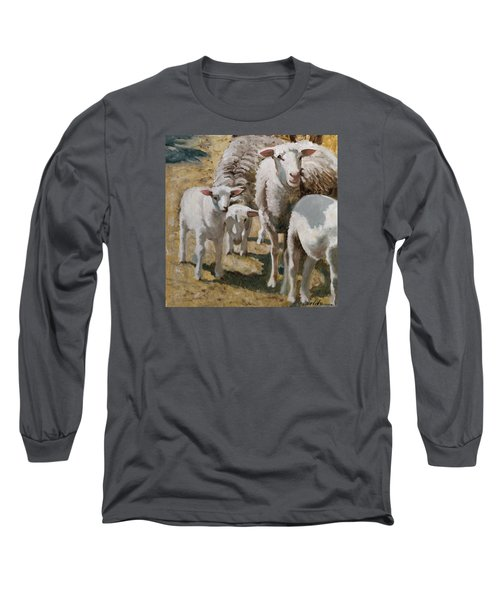 Long Sleeve T-Shirt featuring the painting The Whole Family Is Here by John Reynolds
