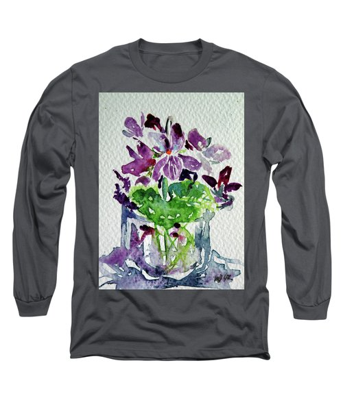 Violet Long Sleeve T-Shirt by Kovacs Anna Brigitta
