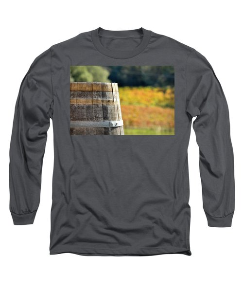 Wine Barrel In Autumn Long Sleeve T-Shirt