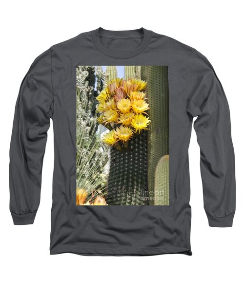 Yellow Cactus Flowers Long Sleeve T-Shirt