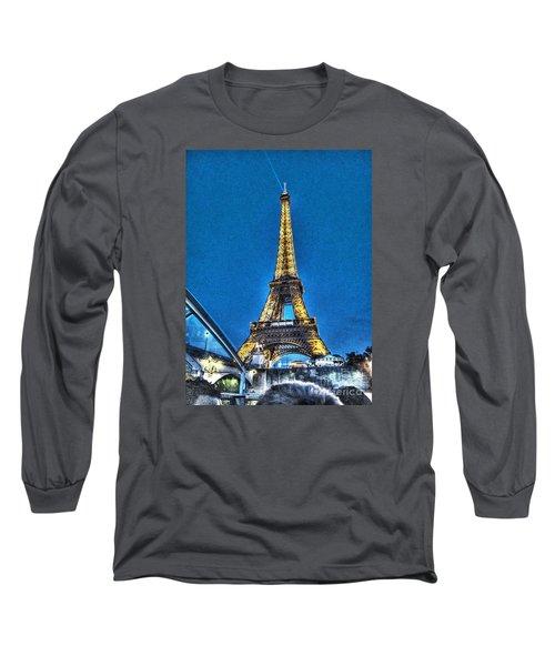 Long Sleeve T-Shirt featuring the pyrography Yury Bashkin Paris by Yury Bashkin