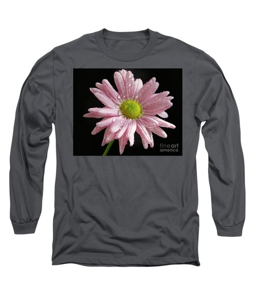Pink Flower Long Sleeve T-Shirt by Elvira Ladocki