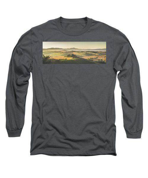 Golden Tuscany Long Sleeve T-Shirt by JR Photography