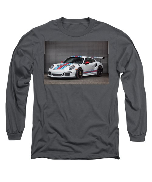 Long Sleeve T-Shirt featuring the photograph #martini #porsche 911 #gt3rs #print by ItzKirb Photography