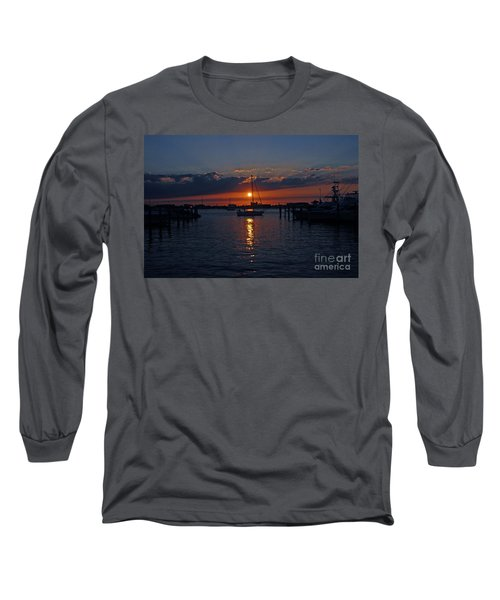 5- Sailfish Marina Sunset In Paradise Long Sleeve T-Shirt by Joseph Keane