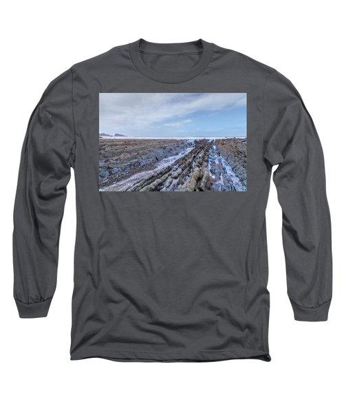 Welcombe Mouth Beach - England Long Sleeve T-Shirt