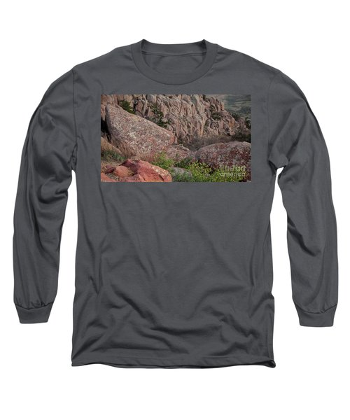 Long Sleeve T-Shirt featuring the photograph Wichita Mountains by Iris Greenwell