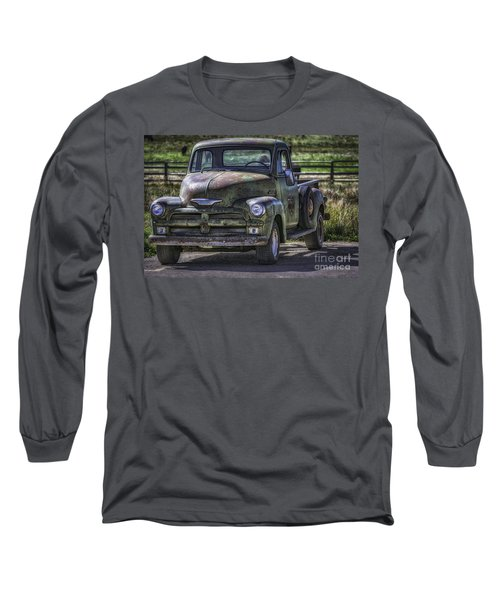 54 Chevy 3600 Stepside Long Sleeve T-Shirt