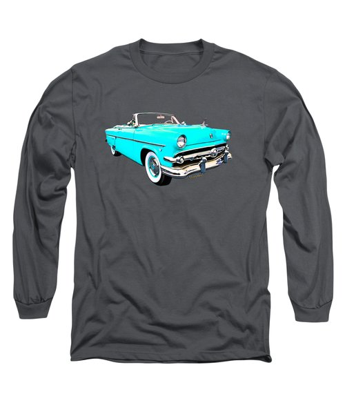 54 Ford Sunliner Date Night Saturday Night Long Sleeve T-Shirt