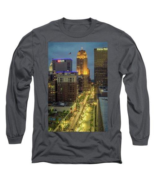 5th Street Cincinnati Long Sleeve T-Shirt by Scott Meyer