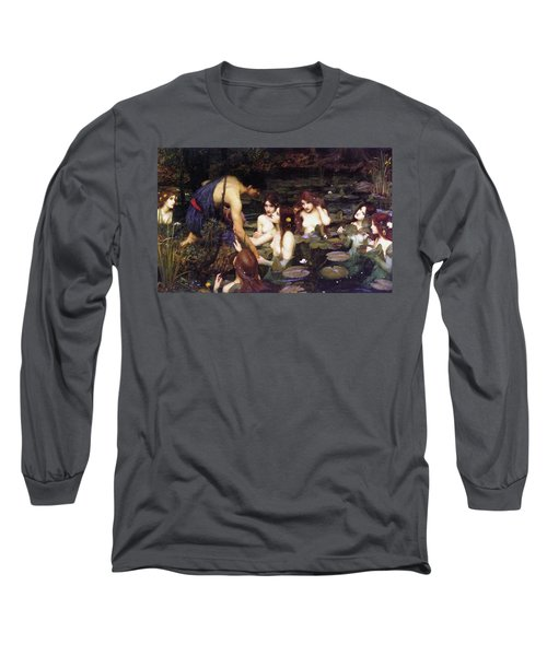 Hylas And The Nymphs Long Sleeve T-Shirt