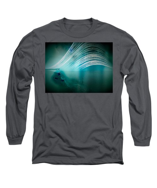 6 Month Exposure Overlooking The Beachy Head Lighthouse Long Sleeve T-Shirt
