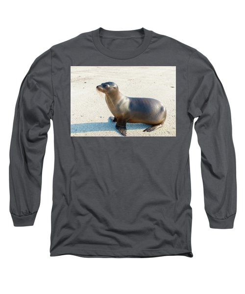 Sea Lion In Galapagos Islands Long Sleeve T-Shirt