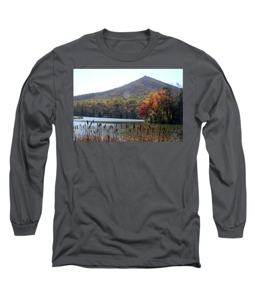 View Of Abbott Lake And Sharp Top In Autumn Long Sleeve T-Shirt