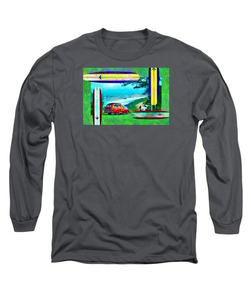 60's Surfing Long Sleeve T-Shirt