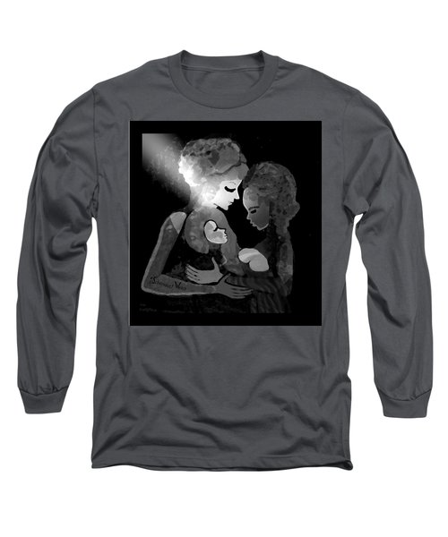 Long Sleeve T-Shirt featuring the digital art 826 - The Child by Irmgard Schoendorf Welch