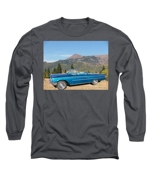 63 Ford Convertible Long Sleeve T-Shirt by Steven Parker