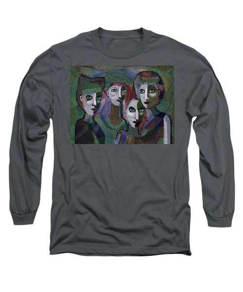 Long Sleeve T-Shirt featuring the digital art 649 - Gauntly Ladies by Irmgard Schoendorf Welch