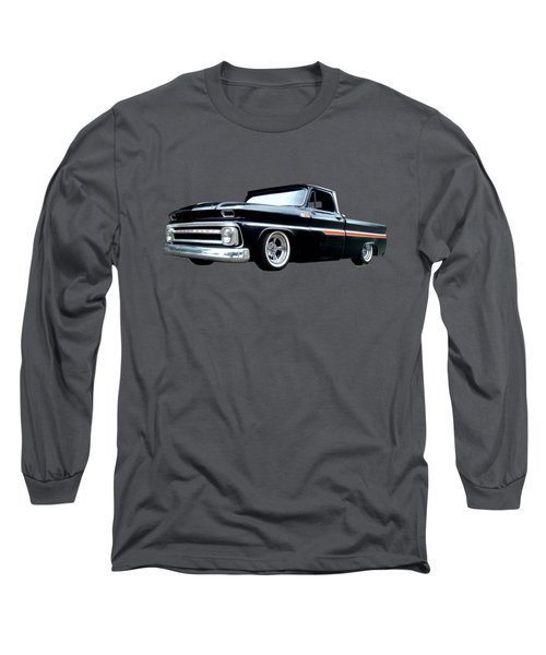 65 Chevy C-10 Stopping At Roy's On Route 66 Long Sleeve T-Shirt