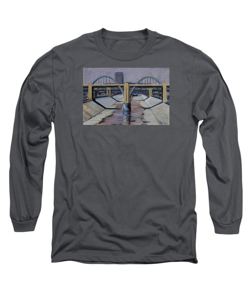 6th Street Bridge Long Sleeve T-Shirt by Richard Willson